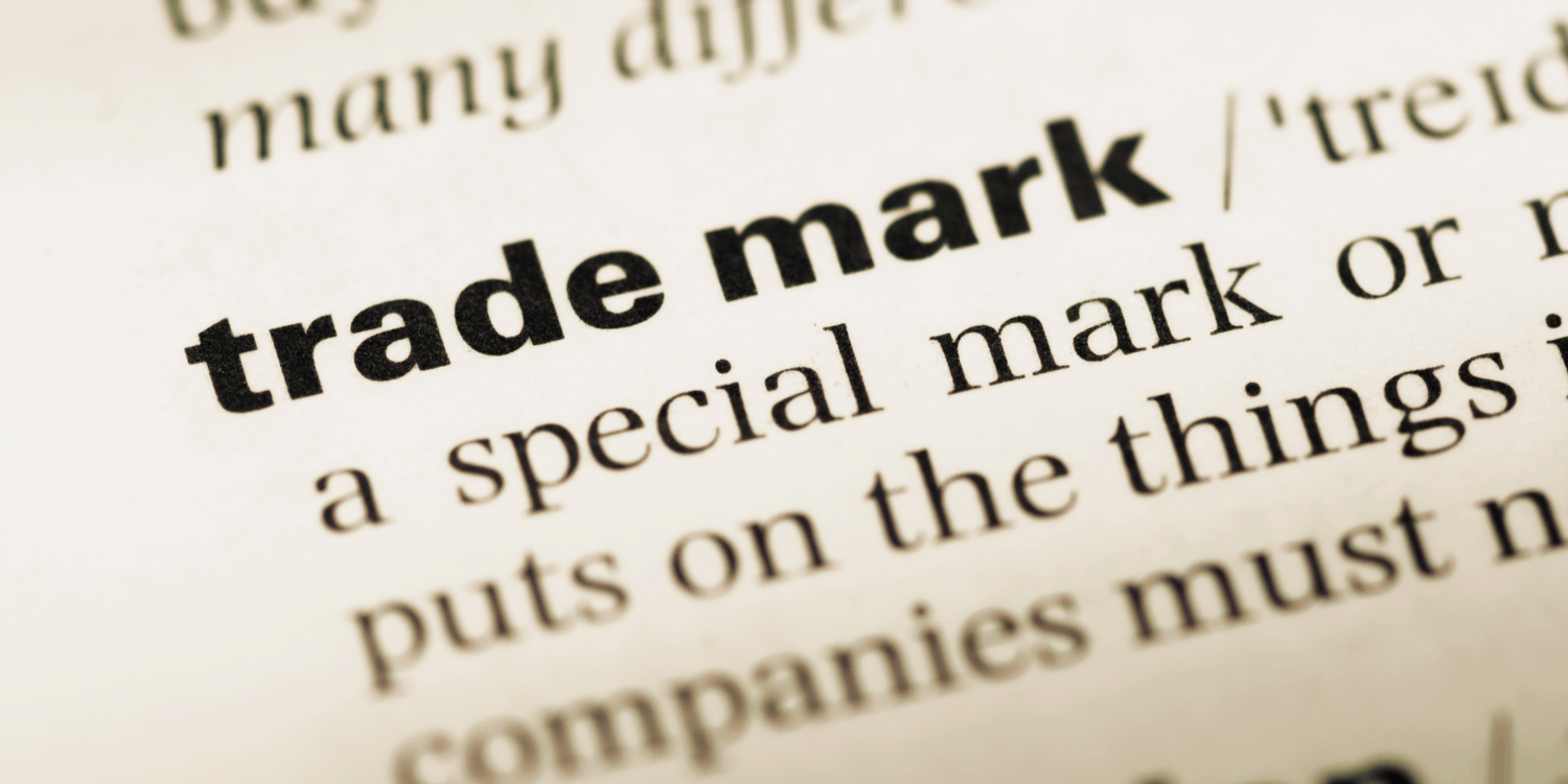 Dictionary definition of the phrase 'trade mark'
